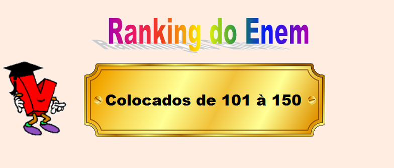 Ranking do Enem Colocados de 101 à 150 por Vestibular1