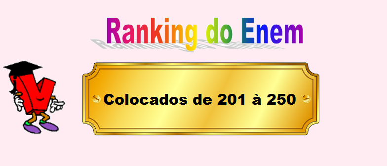 Ranking do Enem Colocados de 201 à 250 por Vestibular1
